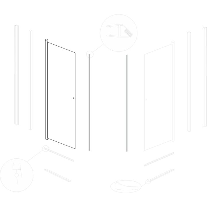 drzwi do kabiny natryskowej Kerra Madrid 90