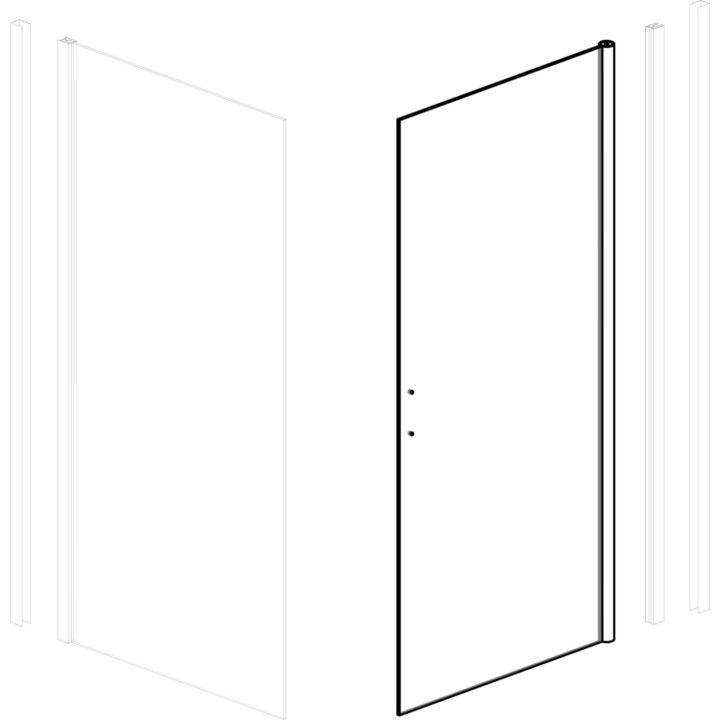 drzwi szyba drzwiowa do kabiny natryskowej Kerra Lagos 90