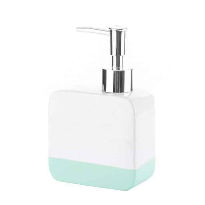 Dozownik do mydła Gusto 01 biały mięta