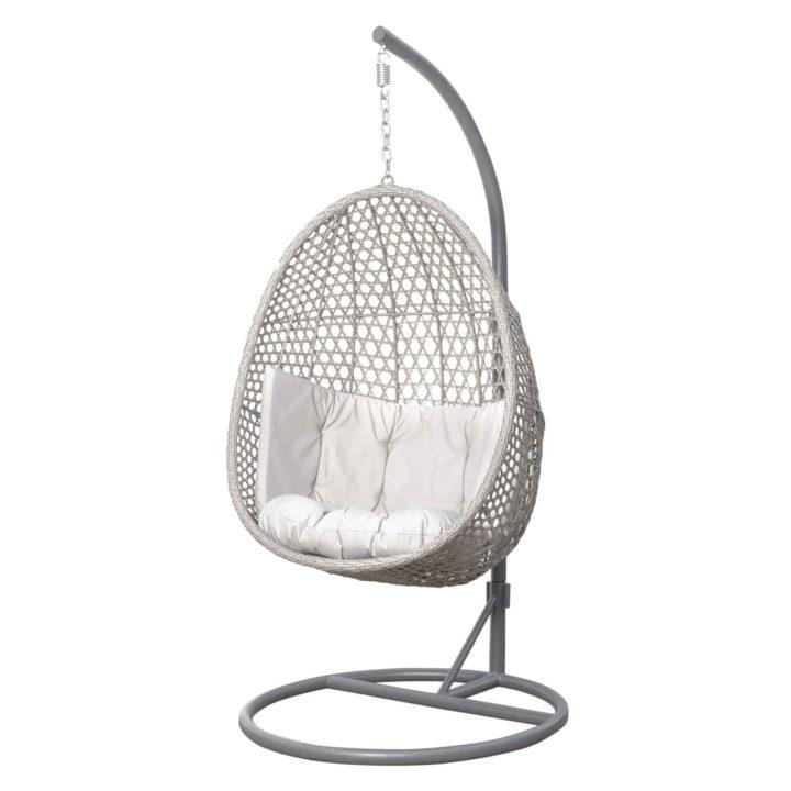Fotel wiszący kosz bujany kokon Alanis light grey
